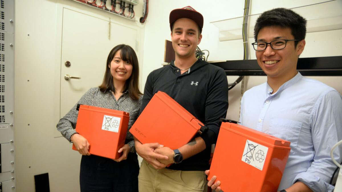 Students from Japan with focus on battery storage and solar energy