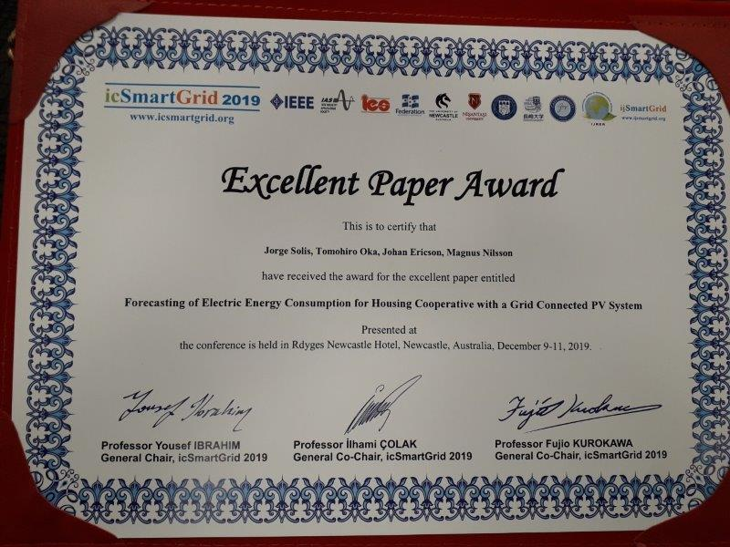 Excellent Paper Award!